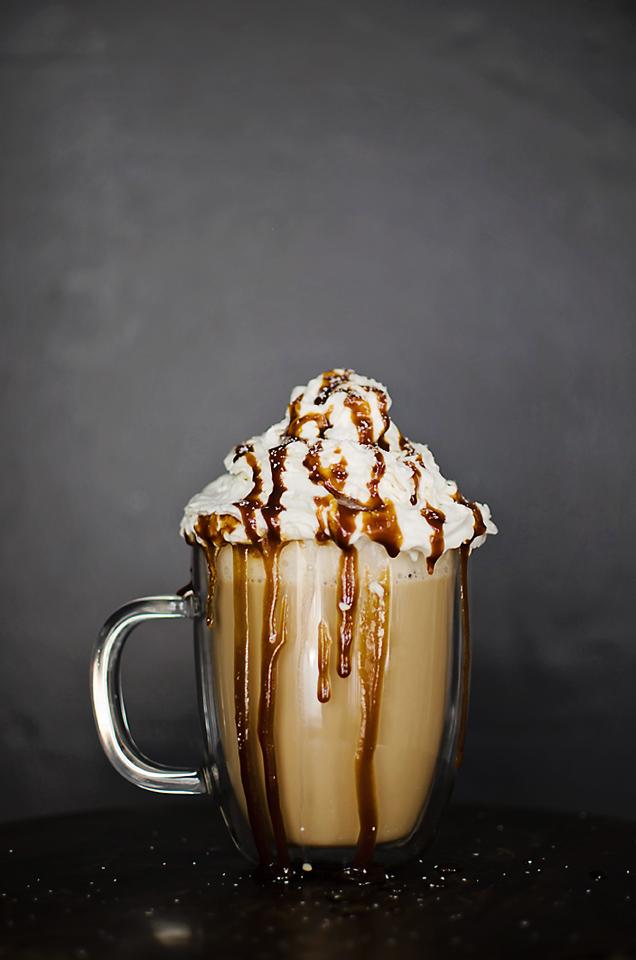 Salted Caramel Irish Coffee with Whiskey Espresso Caramel