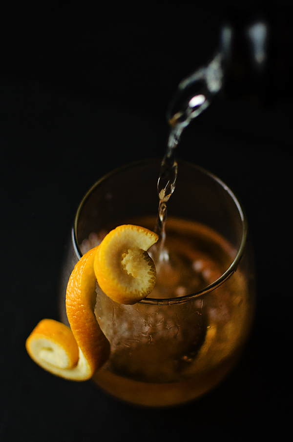 Melody's Tango: port sugar cubes, elderflower liqueur, vanilla-infused cointreau, and champagne.