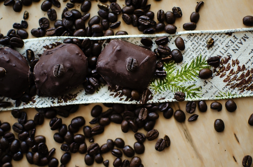 Coffee-Chocolate Covered Molasses Caramels