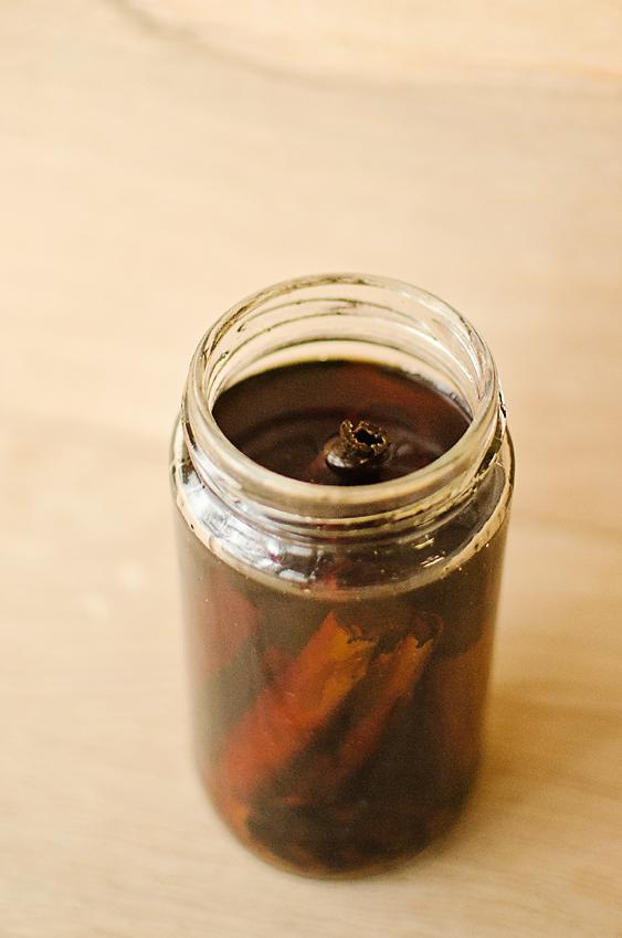 Winter Spiced Vodka: cinnamon, anise, and cloves.