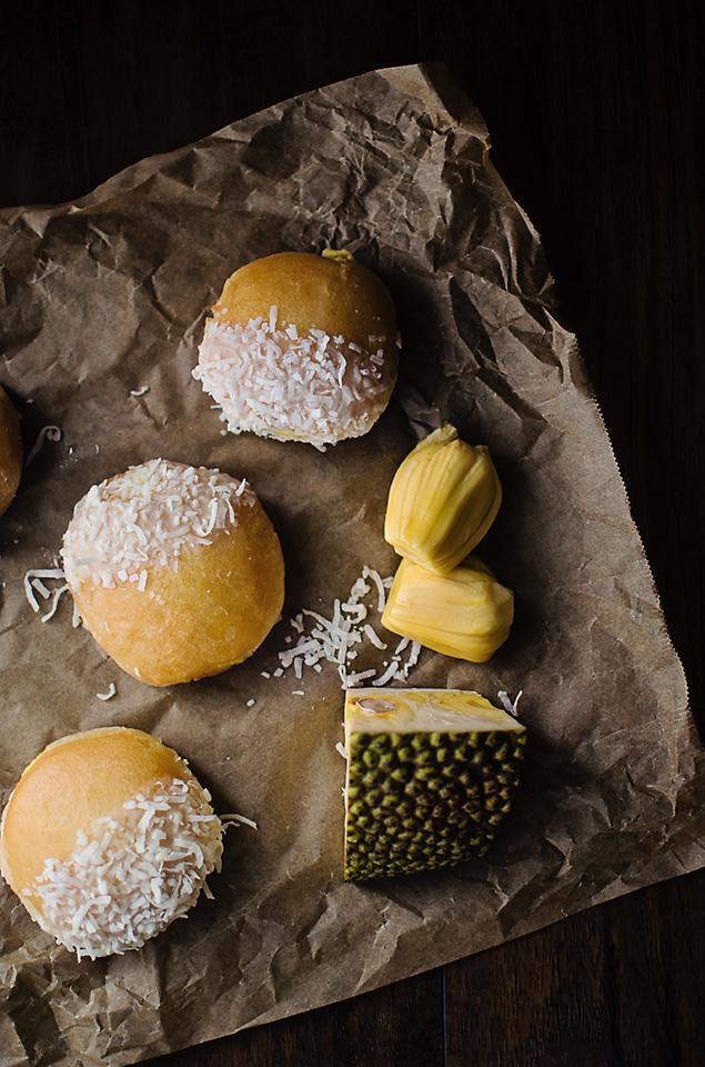 Jackfruit Coconut Donuts with Condensed Milk Glaze